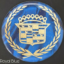 Blue Amp Gold Cadillac Dayton Wire Wheel Chips Emblems Decals Set Of 4 Size 275in