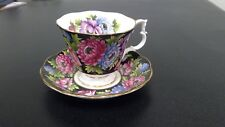 ROYAL ALBERT TEA CUP AND SAUCER CHINTZ BOUQUET SERIES ANEMONE TEACUP PATTERN