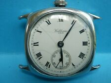 "A nice vintage 1940,s chrome plated ""Waltham"" offset dial wristwatch."