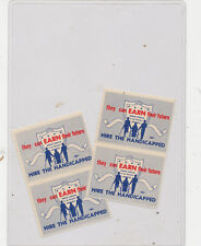 C8654  POSTER STAMP  HIRE THE HANDICAPPED LOT OF  4