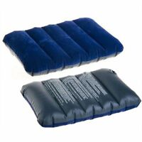 47*30cm Air Inflatable Pillow Portable Folding Double Sides Flocking Cushion