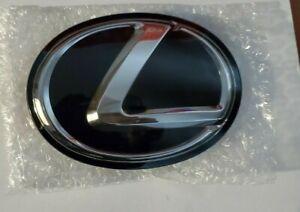 New Toyota Lexus Emblem Radiator Grille Black Logo 53141-48100 or 53141-48110