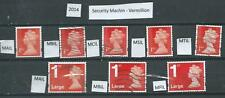 GB 2014 - Security Machin - Vermillion different Source Codes - used - Cat £23