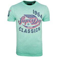 Superdry Herren T-Shirt High Flyers Slub Tee Druck grün M10106YT A7L