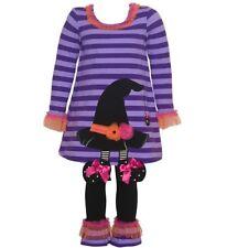NWT Bonnie Jean Witch Hat Halloween Tunic Dress & Leggings Set 3/3T