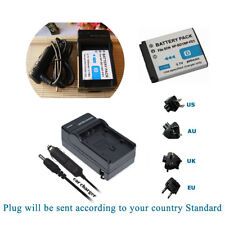 Battery /Charger for Sony NP-BD1 NP-FD1 Type D CyberShot DSC-T77 T90 T900 TX1 G3