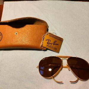 Ray Ban Aviator B&L Vintage USA Outdoorsman occhiali da sole