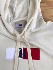 New Tommy Hilfiger Lewis Hamilton Logo hoodie cloud Heather lettering Sz Medium