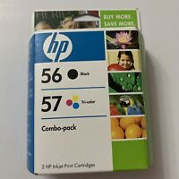 Genuine HP 56 Black 57 Color Combo Pack Ink Cartridges, Sealed, Expired Nov 2008