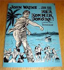 JOHN WAYNE DONOVAN'S REEF DANISH MOVIE PROGRAM