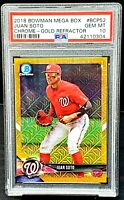 2018 Chrome GOLD REFRACTOR Nats JUAN SOTO RC Card /50 PSA 10 GEM MINT Low Pop 9
