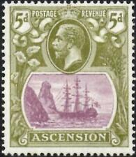 Ascension 1927  KGV  5d Purple & Olive-Green  SG.15d Mint (Hinged)  Cat:£23