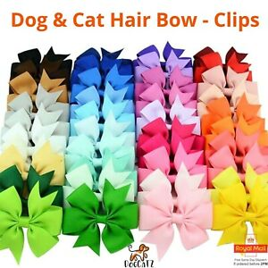 Pet Dog Bow Hair Clip Hairpin, UK, Puppy, Girl Boy, Pets Cat Dogs, Large 8.5cm