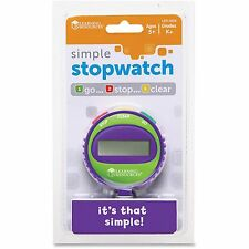 Learning Resources Simple Stopwatch Ages 5-Up Multi Ler0808