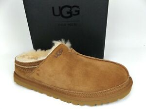 Men's UGG Australia Chestnut Neuman Clog Moccasin Suede Slippers SZ 8.0 M, 17719