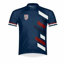 Primal Wear USA Cycling Men's Full Zip Sport Cut Raglan Sleeve Cycling Jersey