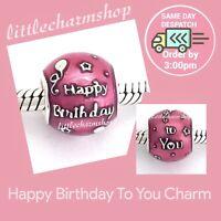 New Authentic Genuine PANDORA Happy Birthday To You Charm - 791983EN117 RETIRED