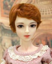 """1/3 1/4 bjd 7-8"""" doll head copper red short wig dollfie Luts Iplehouse MSD 28053"""