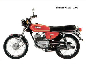 Motorcycle Canvas Picture Yamaha RS100 1976 Canvas 16x12 inch