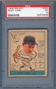 1938 Goudey #284 Rudy York (22975506) PSA 5