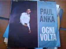 "7""  PAUL ANKA OGNI VOLTA STASERA RESTA CON ME  SLEEVE EX VINILE EX/EX+"