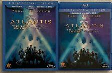 DISNEY ATLANTIS THE LOST EMPIRE MILOS RETURN BLU RAY DVD + RARE OOP SLIPCOVER