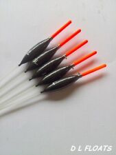 5x `DL` HAND MADE POLE FLOATS  `F1 Slims`  0.4g RED 2mm  Tips