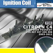 A-Premium Ignition Coil Pack for Citroen C4 Peugeot 206 307 406 407 2003-2011 I4