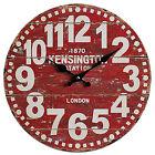 Grande Horloge Murale Bois Vintage Rustique Retro Cuisine Maison Décor Antique