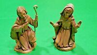 "Vintage 1983 Fontanini Joseph & Mary Nativity Figures Made In Italy 3.5"" Set"