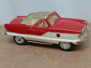 Vintage HUBLEY METROPOLITAN FRICTION TOY CAR Promo RED/WHITE Parts/Rebuild