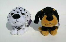 2 x Big Head Soft Toy Dogs Doberman Dalmatian Cuddles Time 14cm x 13cm