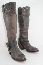 MURO BOOTS MADE IN MEXICO STUD SIZE 7 DARK BROWN IN PRISTINE CONDITION MSRP $500