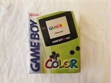 Nintendo Game Boy Color Edition Kiwi Handheld System boxed with instructions