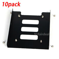 "10PCS 2.5"" SSD to 3.5"" Bay Hard Drive Mounting Dock Tray Bracket Adapter Holder"