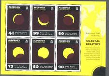 Alderney-Coastal eclipsa a min hoja estampillada sin montar o nunca montada 2017-espacio-ciencia