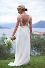Lace Cap Sleeve Handmade Wedding Dresses