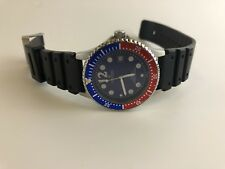 Croton Mens Stainless Steel Diver 20 ATM Date Watch Red Blue#085