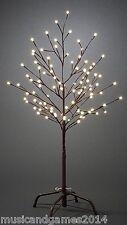 LED Lichterbaum braun 100cm Warmweiß