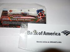 SF GIANTS RED WHITE & BLUE PIN SGA SAN FRANCISCO LIMITED NEW JUNIOR GLOVE DRIVE