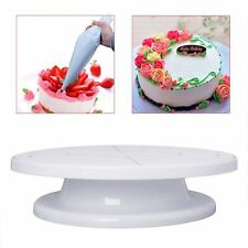 """11"""" Rotating Revolving Plate Decorating Cake Turntable Kitchen Display Stand"""