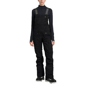 The North Face Women's Freedom Bib Snow Pants Black Large Short NF0A3LZWJK3-LSHT