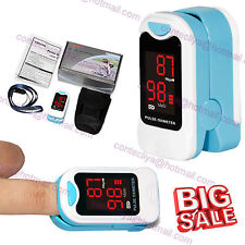 FDA Finger Pulse Oximeter Blood Oxygen SpO2 PR Heart Rate Monitor, Pouch&Lanyard