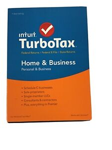 2015 TurboTax Home & Business CD Federal Intuit Turbo Tax Windows/Mac