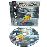 Turbo Prop Racing (Sony PlayStation 1, PS1 1998) COMPLETE with Manual CIB