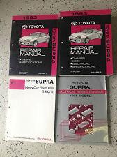 1993 TOYOTA SUPRA Service Shop Repair Manual Set FACTORY OEM BOOKS 4 VOL RARE x