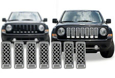 2011-2016 Jeep Patriot Chrome Grille Grill mesh insert overlay trim