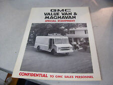 Rare 1976 GMC Value Van and Magnavan Special Equipment Brochure
