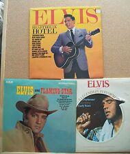 "3 x Elvis Presley 12"" VINYL LP's. A Legendary Performer, Flaming Star, Heartbrea"