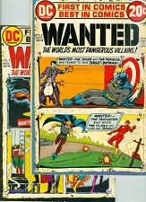 Wanted #2, #3, #4, #5, #6, #7, #8 and #9 Golden-Age Reprints
